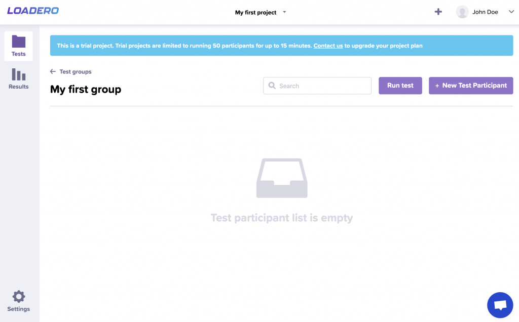 performance testing example