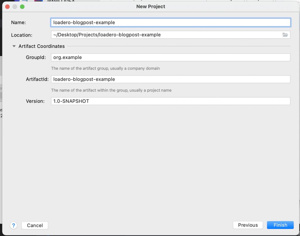 Maven project folder